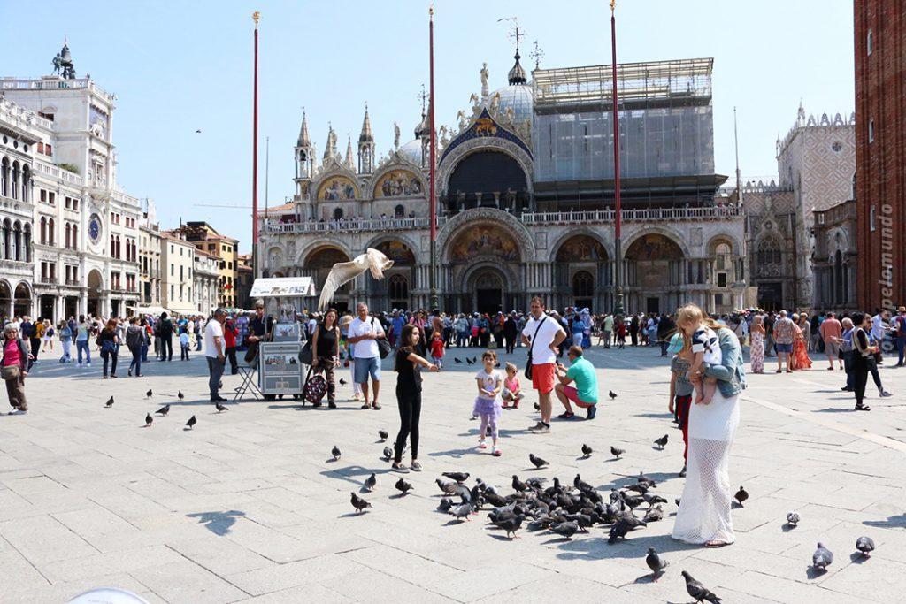 Veneza praça são marco