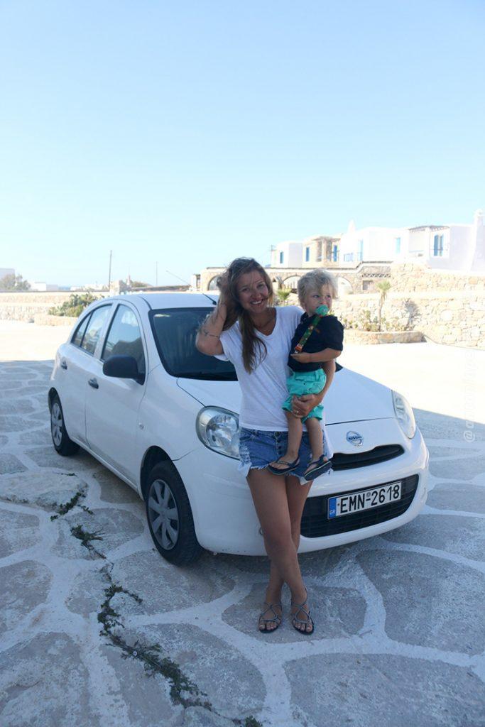 carro alugado - Mykonos