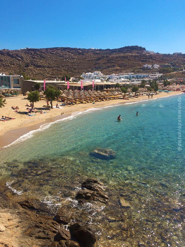 Paradise Beach em Mykonos