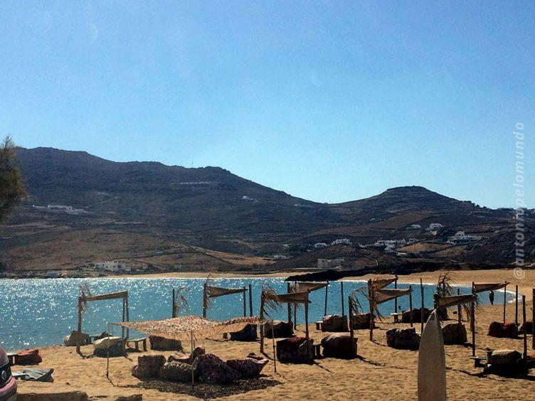 Ftelia Beach em Mykonos