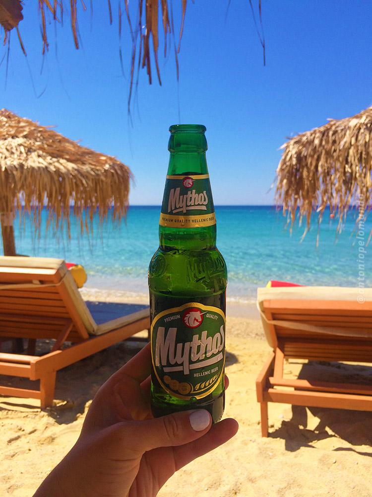 Mythos - Elia Beach em Mykonos