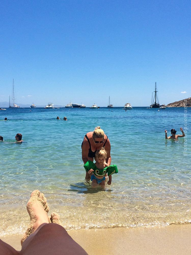 Ornos Beach em Mykonos