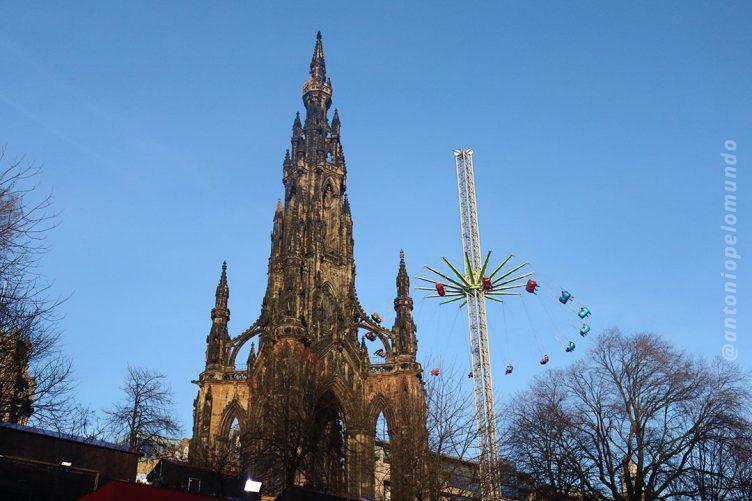 Feira de Natal em Edimburgo