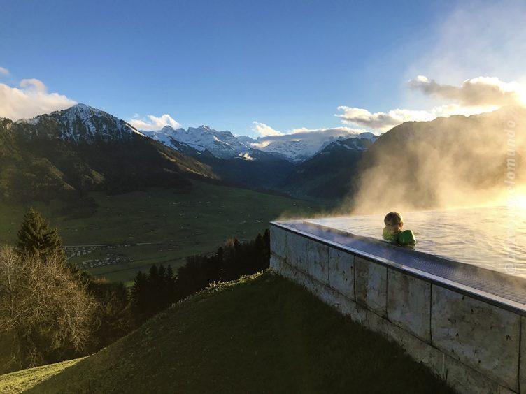 Piscina aquecida - Hotel Villa Honegg