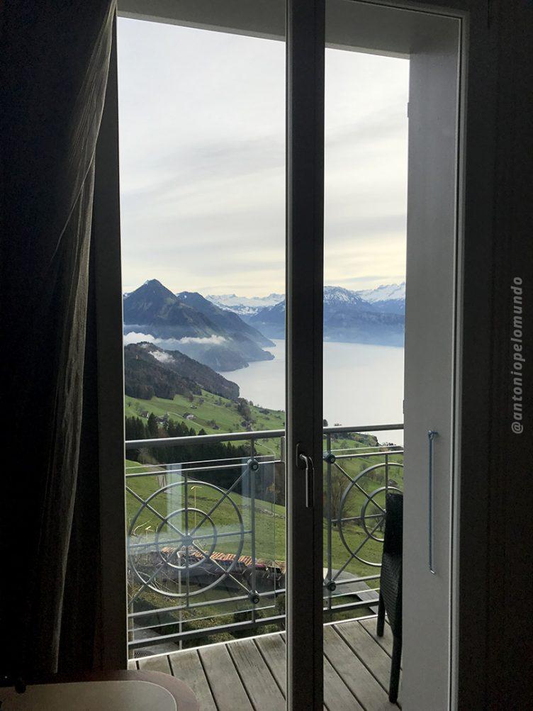 Vista do nosso quarto- Hotel Villa Honegg - Suíça