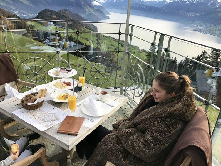 Café da manhã - Villa Honegg - Suíça