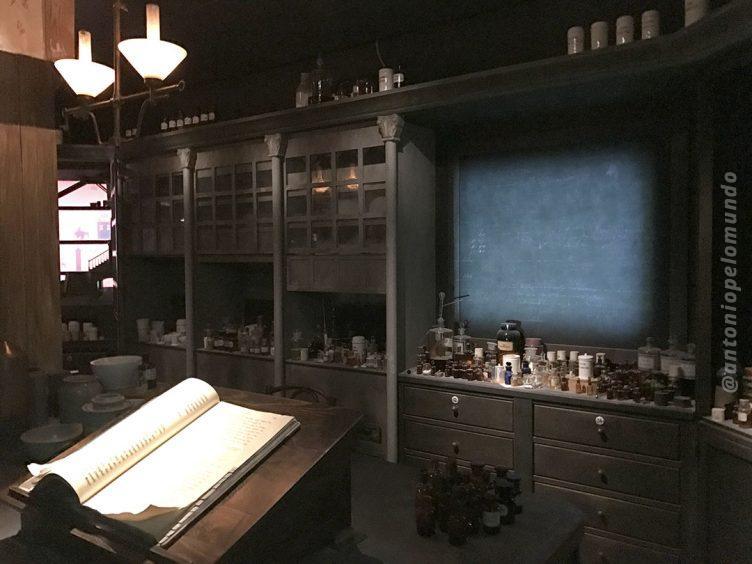 Replica do laboratorio onde foi criada a Farinha Láctea