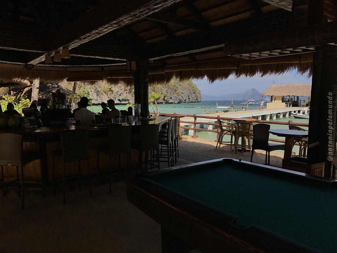 Bar em frente a praia - Miniloc Island - El Nido Resorts