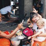 Camboja com crianças