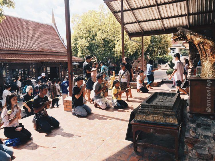 Wat Yai Chai Mongkol em Ayutthaya