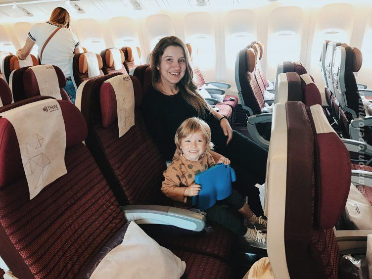 voo com crianças