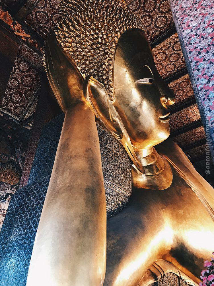 Wat Pho em BAngkok - templo do Buda deitado