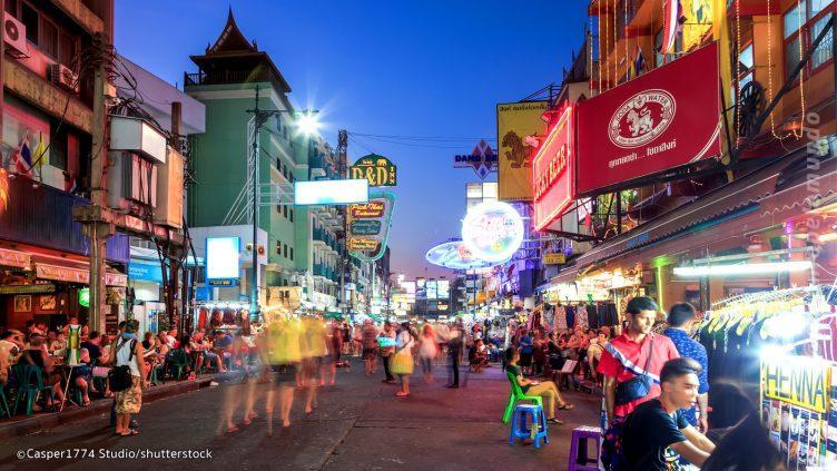 Khao San Road em Bangkok