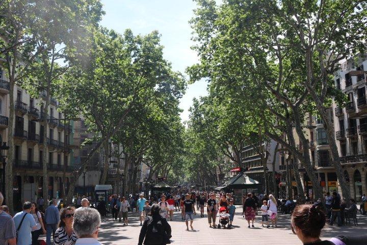 LAs Ramblas em Barcelona