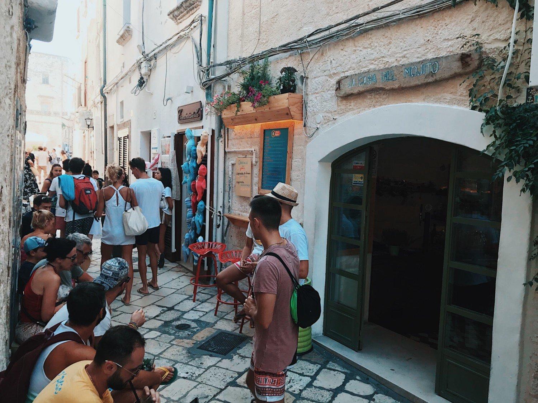 onde comer em POlignano a Mare