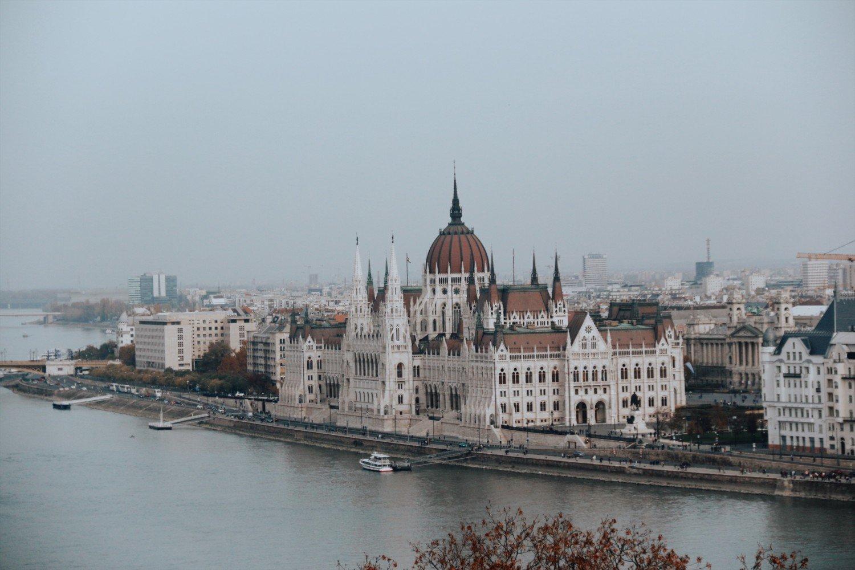 O Parlamento de Budapeste na Hungria