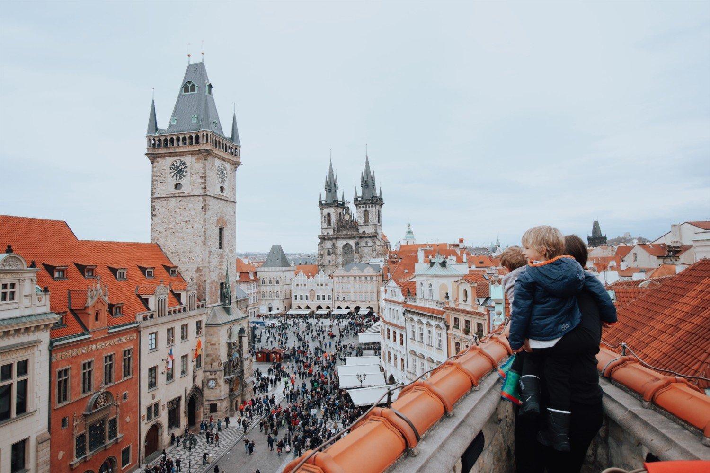 Vista da praça principal de Praga