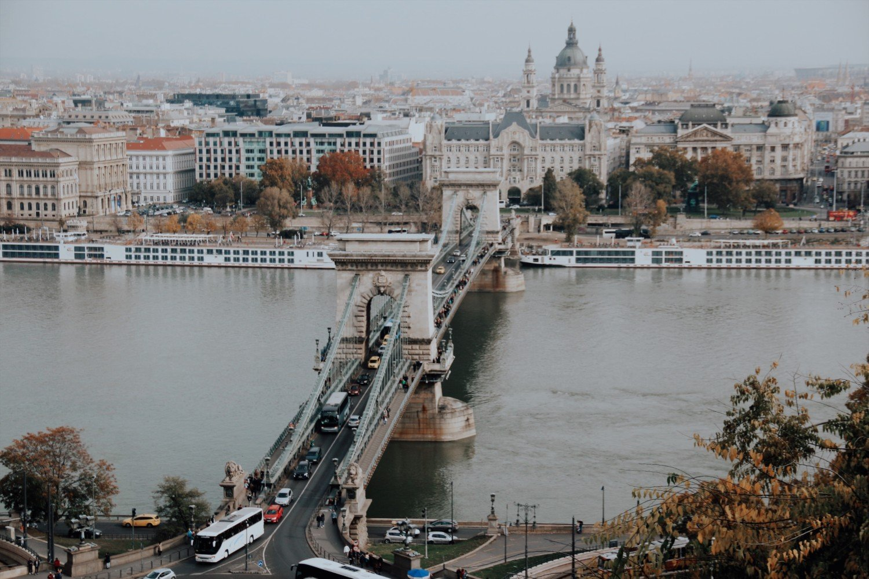 Vista do Castelo de Buda em Budapeste