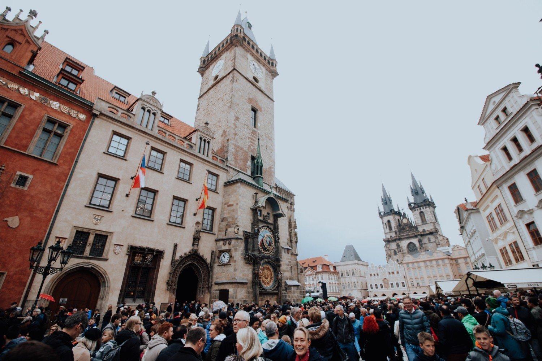O principal ponto turístico de Praga