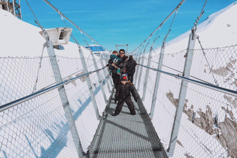 Monte Titlis, a ponte suspensa mais alta da Europa