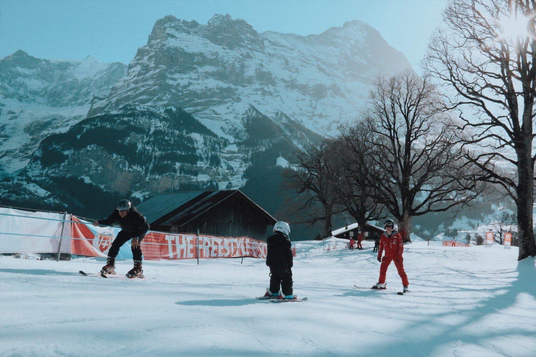 Aula de Ski para crianças em Grindelwald