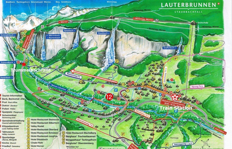Mapa de Lauterbrunnen