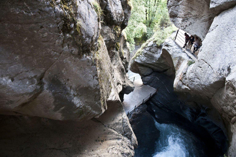 Trummelbach, cachoeira em Lauterbrunnen