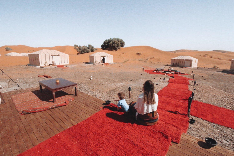 Acampamento no deserto do Saara