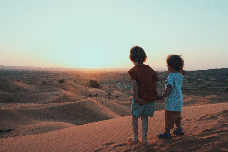 Pôr do Sol no Deserto do Saara